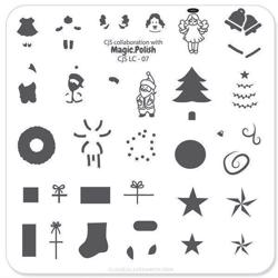 Deck the halls (CjS LC-07), Clear Jelly Stamper, stampingplade