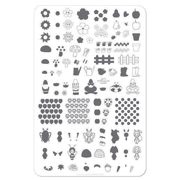 Gnome Place Like Home - (CjS LC-17) Stampingplade, Clear Jelly Stamper