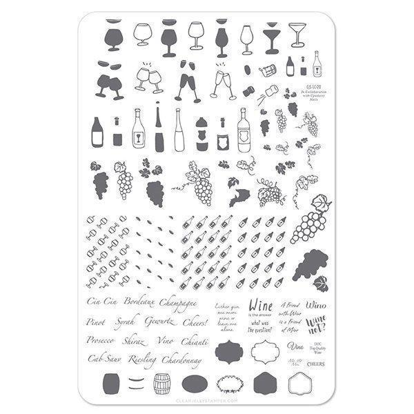 A Friend With Wine (CjS LC-20) Stampingplade, Clear Jelly Stamper