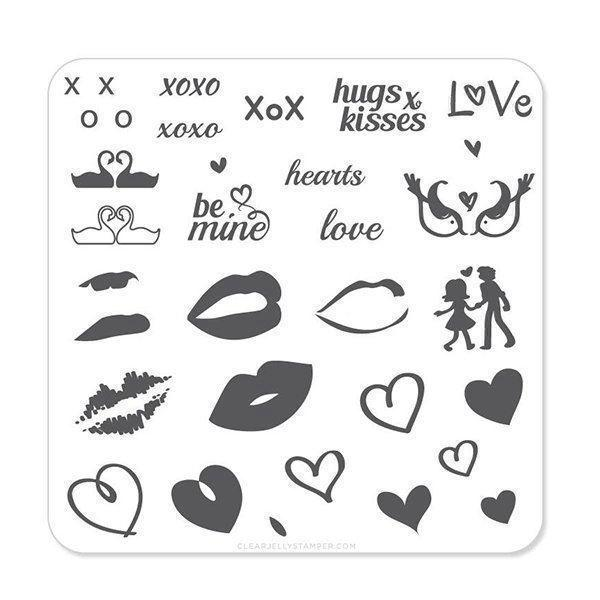 Image of   Luscious Lips & Love (CjSV-01 - Stampingplade