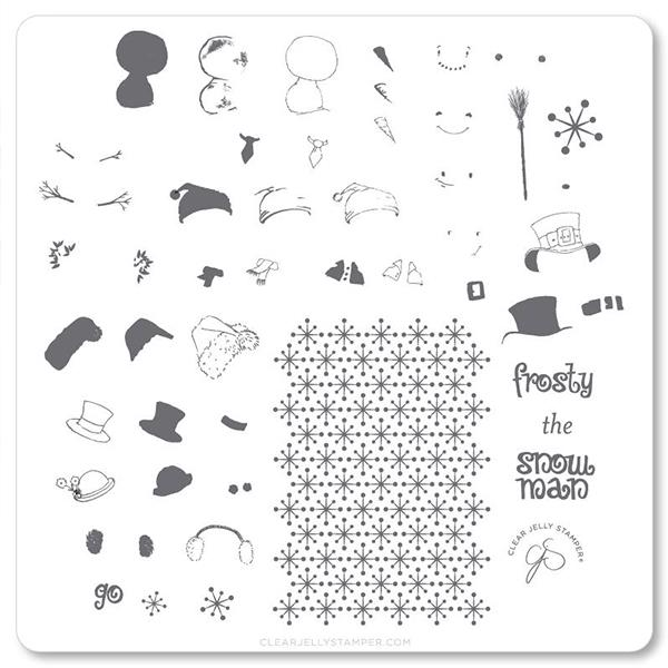 Image of Do You Wanna Build A snowman? (CjSC-37), Clear Jelly Stamper, stampingplade