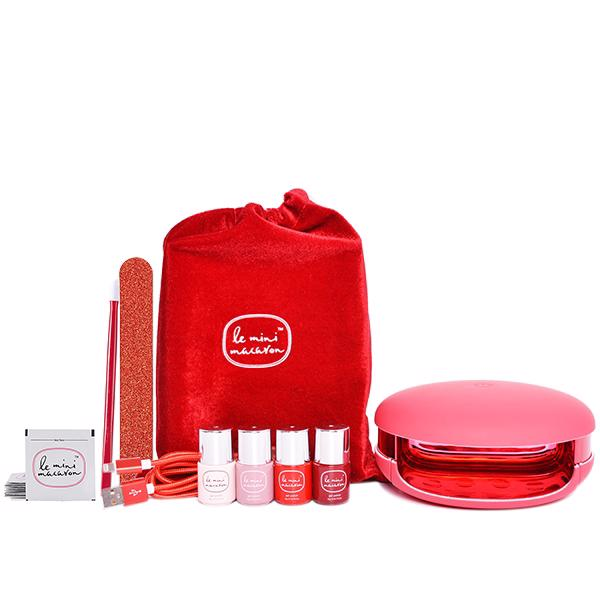 Image of   Le Maxi Rouge & Moi, Gel Manicure Set (Limited Edition), Le Mini Macaron