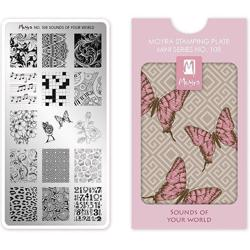 Sounds of your world MINI Stamping Plate NO. 108 Moyra