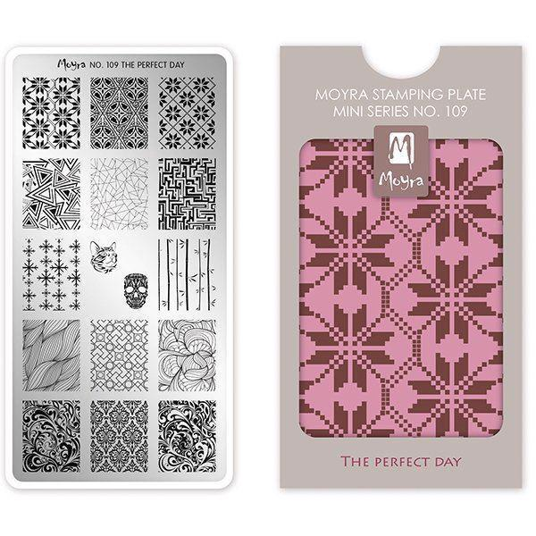 Image of   The perfect day MINI Stamping Plate NO. 109, Moyra