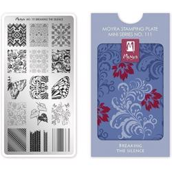 Breaking the silence MINI Stamping Plate NO. 111 Moyra
