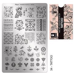 Tattoo Stamping Plate NO. 34, Moyra