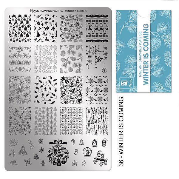 Image of Winter is coming Stamping Plade NO. 36, Moyra