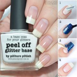 PEEL OFF GLITTER BASE Top/Base Picture Polish