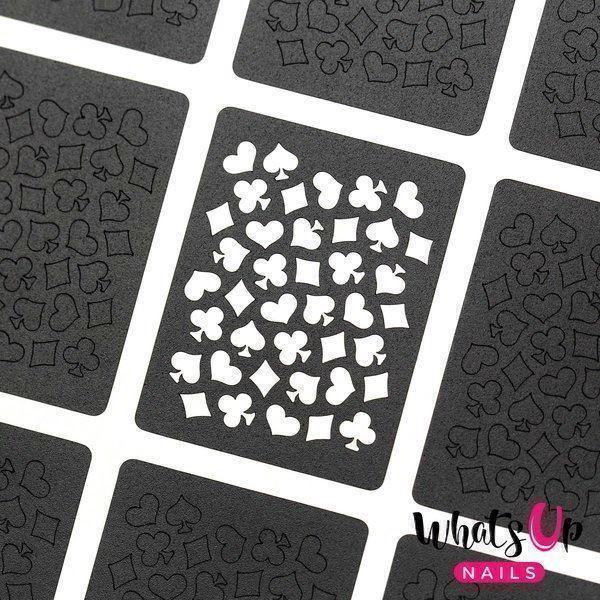Image of   Playing Cards Stencils, Whats Up Nails