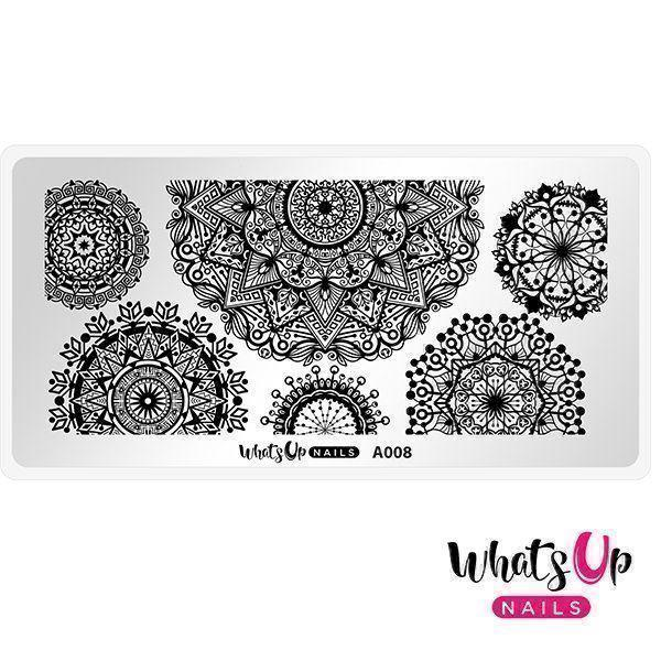 Image of   A008 Mandala Blossoms, Whats up nails