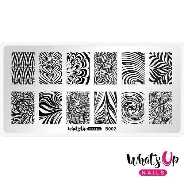 Image of   B002 Water Marble to Perfection, Whats up nails