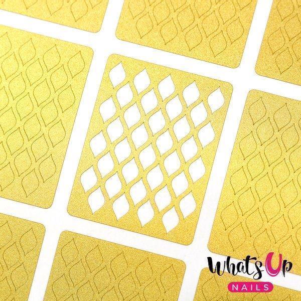 Image of   Fishnet Stencils, Whats Up Nails