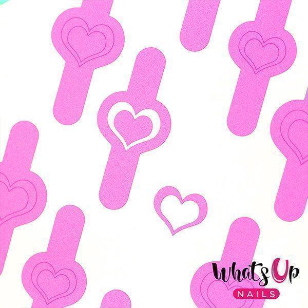 Image of   Open Heart Stencils, Whats up Nails