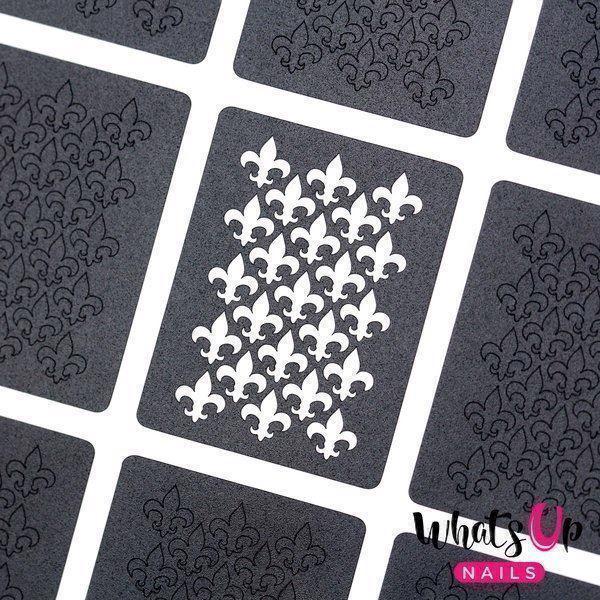 Image of   Fleur De Lis Stencils, Whats Up Nails