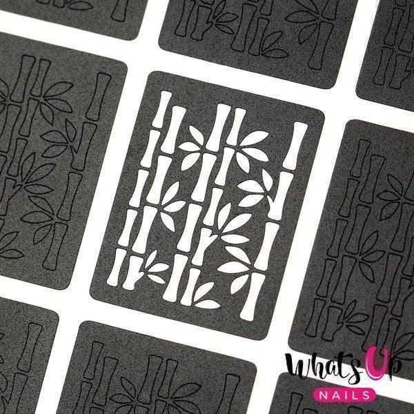 Image of   Bamboo Stencils, Whats Up Nails
