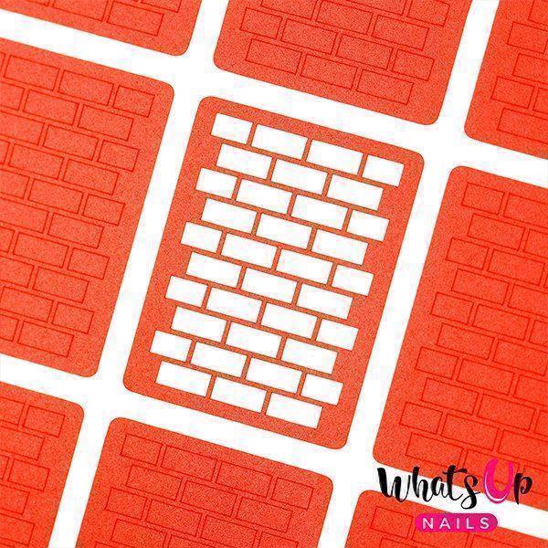 Image of   Brick Stencils, Whats up Nails