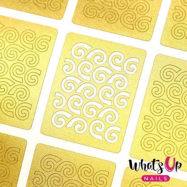 Image of   Swirls Pattern Stencils, Whats Up Nails