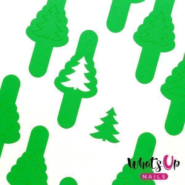 Pine Tree Stencils, Whats Up Nails