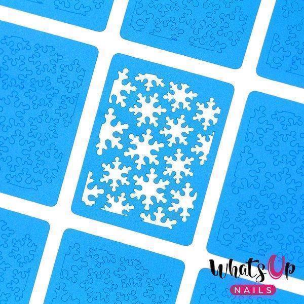Image of   Snowfall Stencils, Whats Up Nails