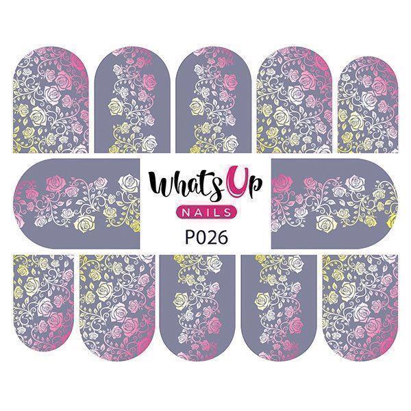 Image of   P026 Faded Floral, Whats up Nails