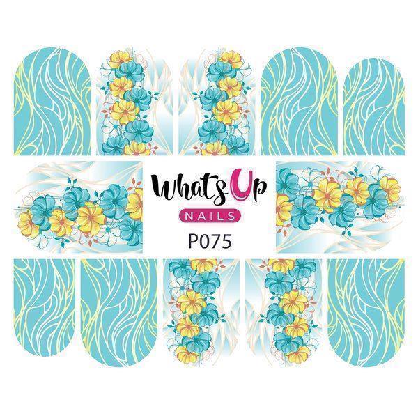 Image of   P075 Floral strands, Whats up Nails