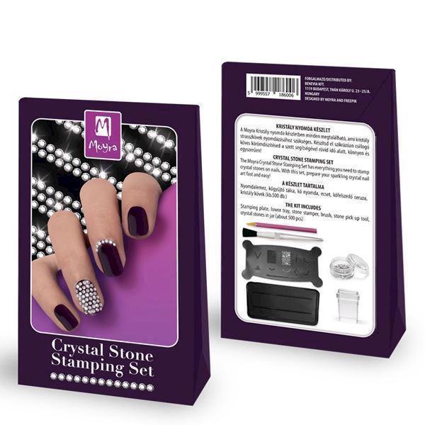 Image of   Stamp med krystaller, Crystal stone stamping set, Moyra
