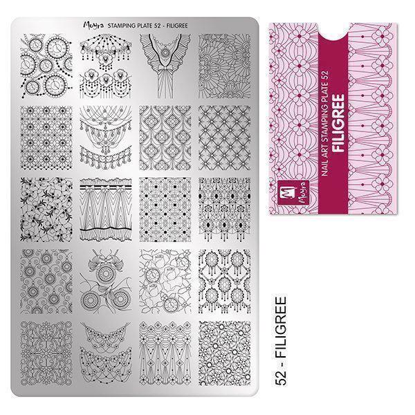 Image of   Filigree Stamping Plade NO. 52, Moyra